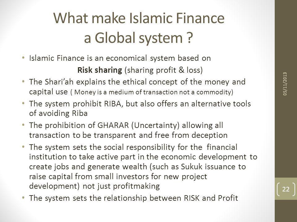What make Islamic Finance a Global system
