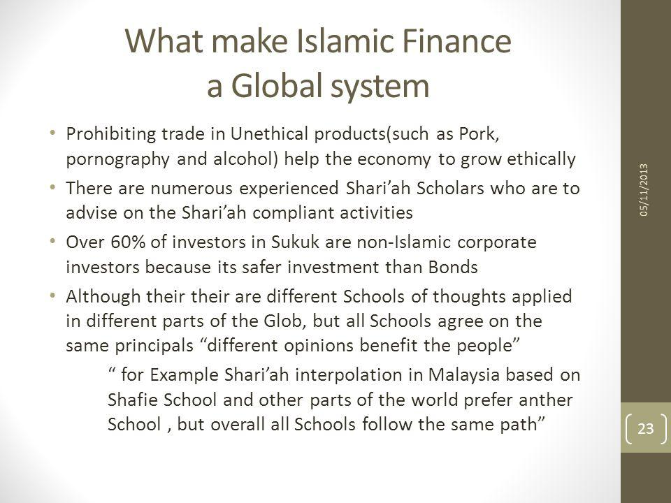 What make Islamic Finance a Global system