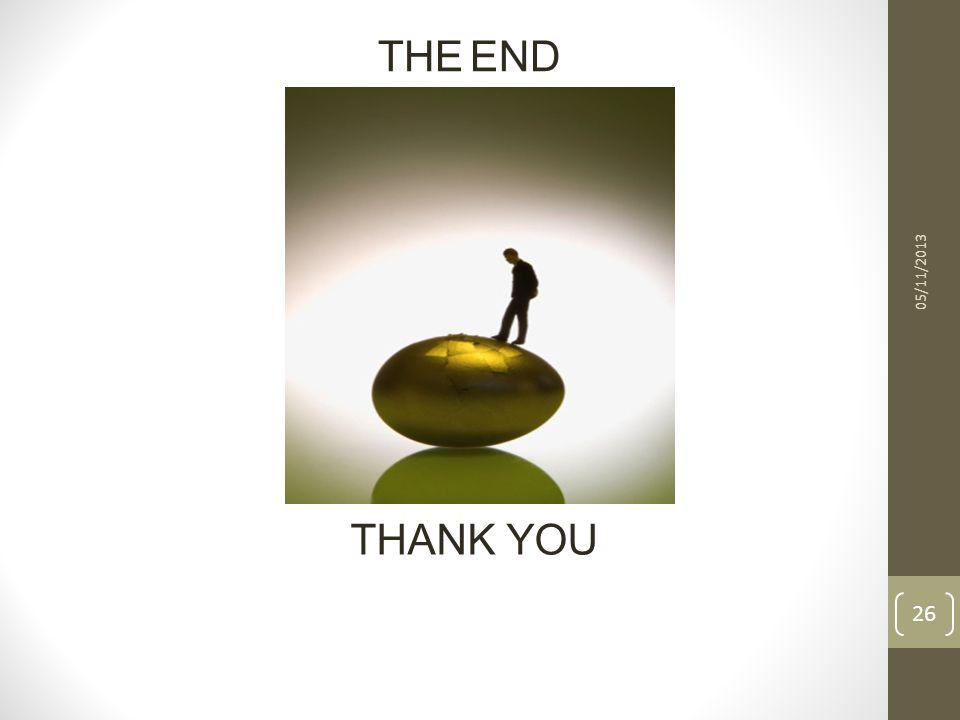 THE END 05/11/2013 THANK YOU 26