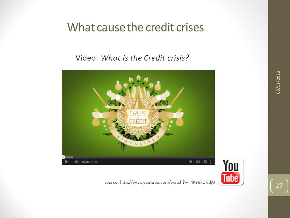 What cause the credit crises