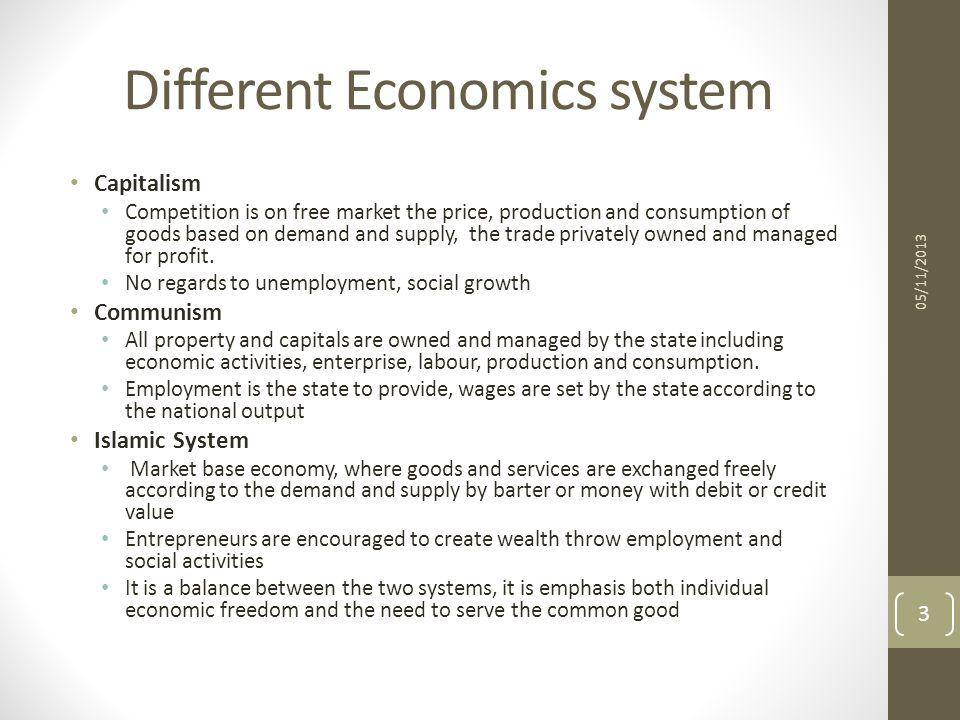 Different Economics system