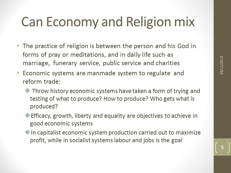 Can Economy and Religion mix