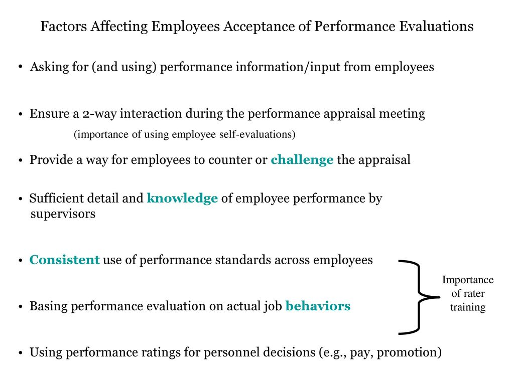factors affecting job evaluation