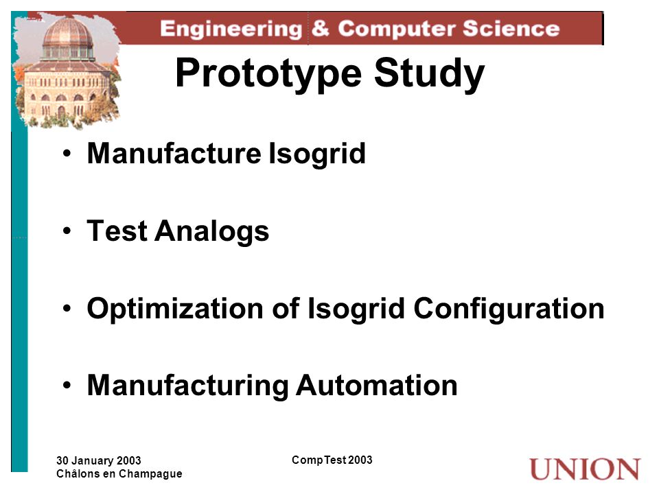 Prototype Study Manufacture Isogrid Test Analogs