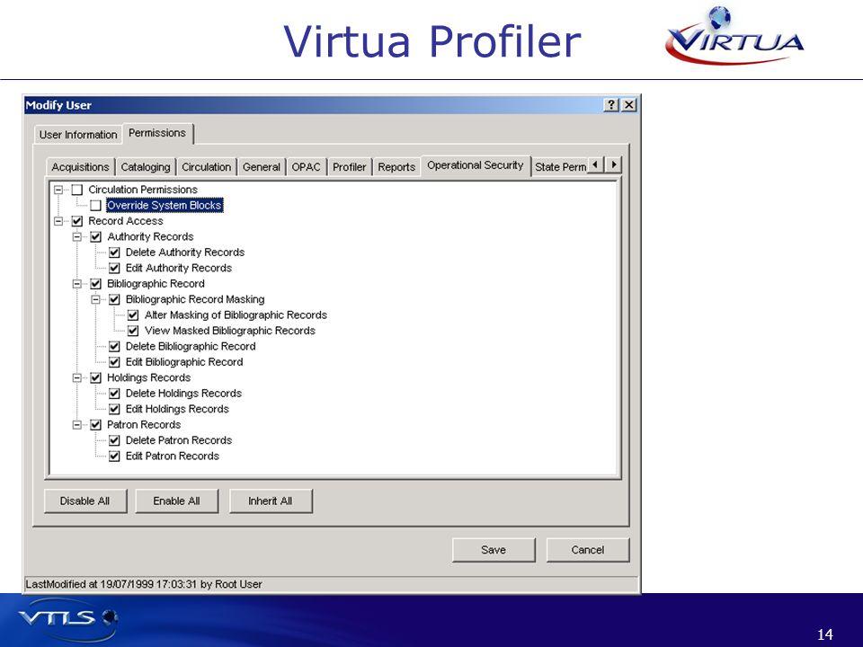 Virtua Profiler 14