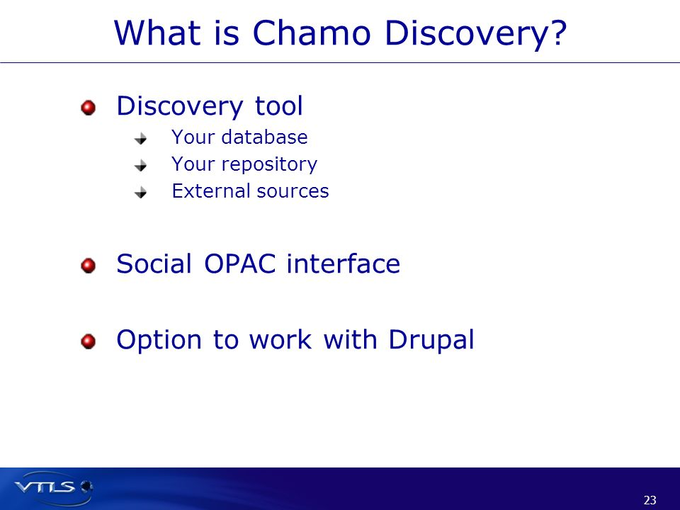 What is Chamo Discovery