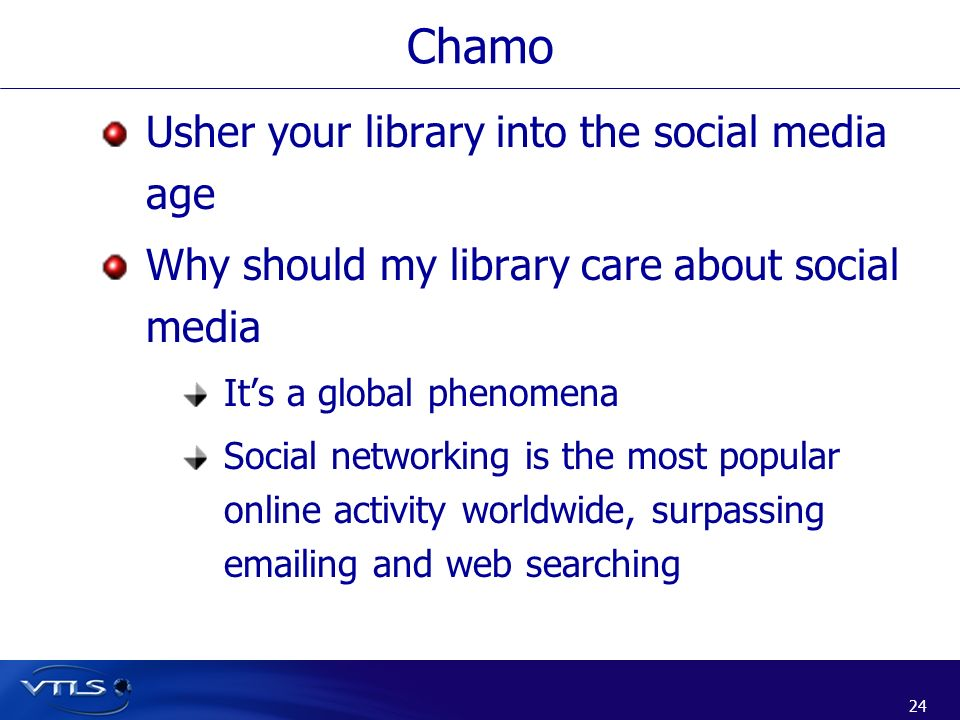 Chamo Usher your library into the social media age