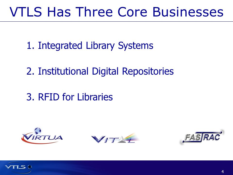 VTLS Has Three Core Businesses