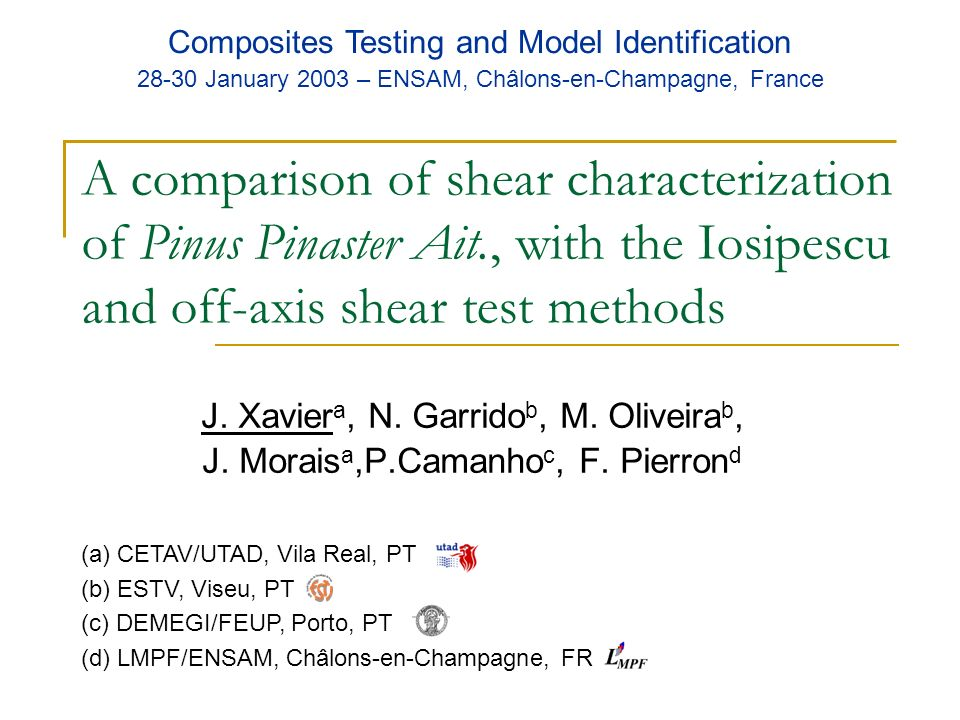 Composites Testing and Model Identification