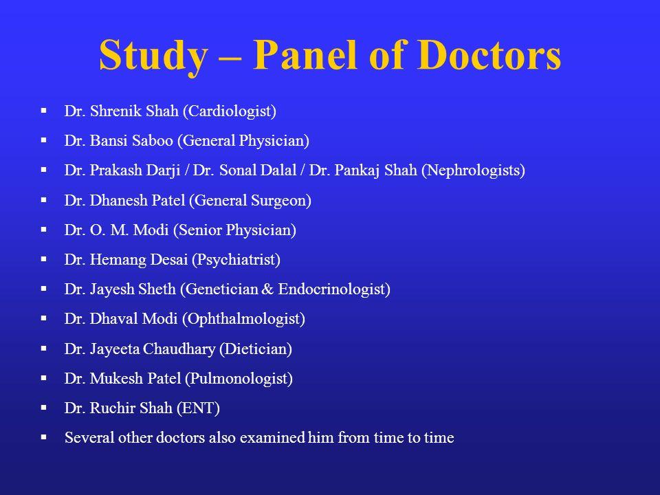 Study – Panel of Doctors