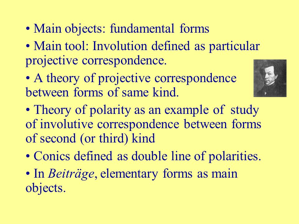 Main objects: fundamental forms