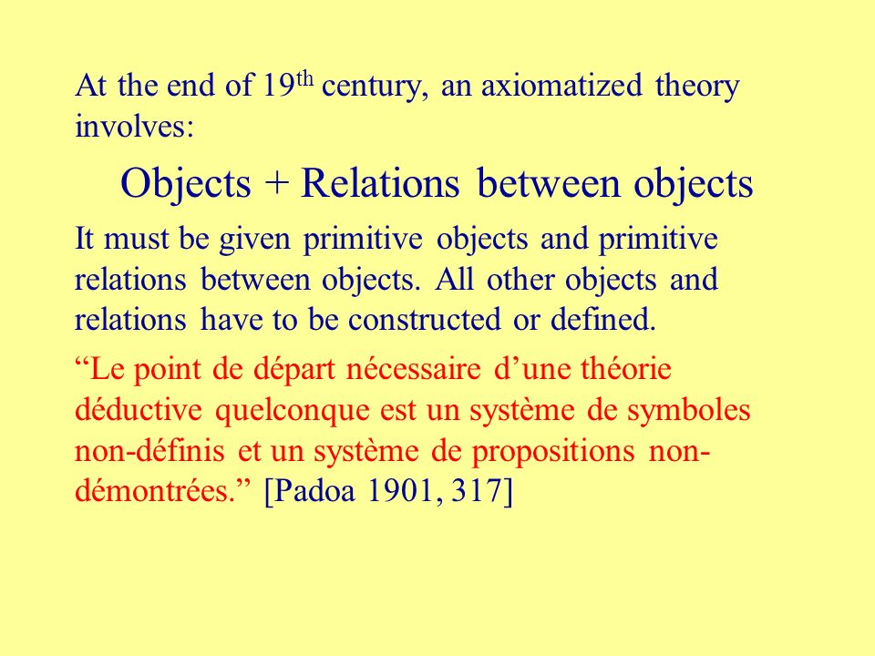 Objects + Relations between objects