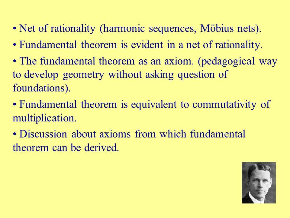 Net of rationality (harmonic sequences, Möbius nets).
