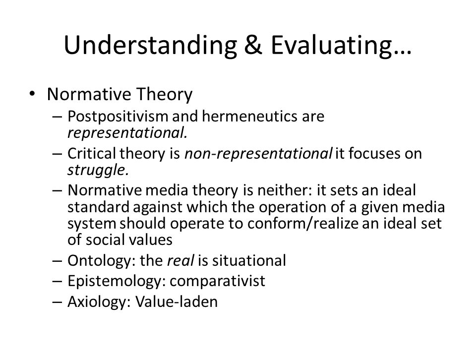 Understanding & Evaluating…