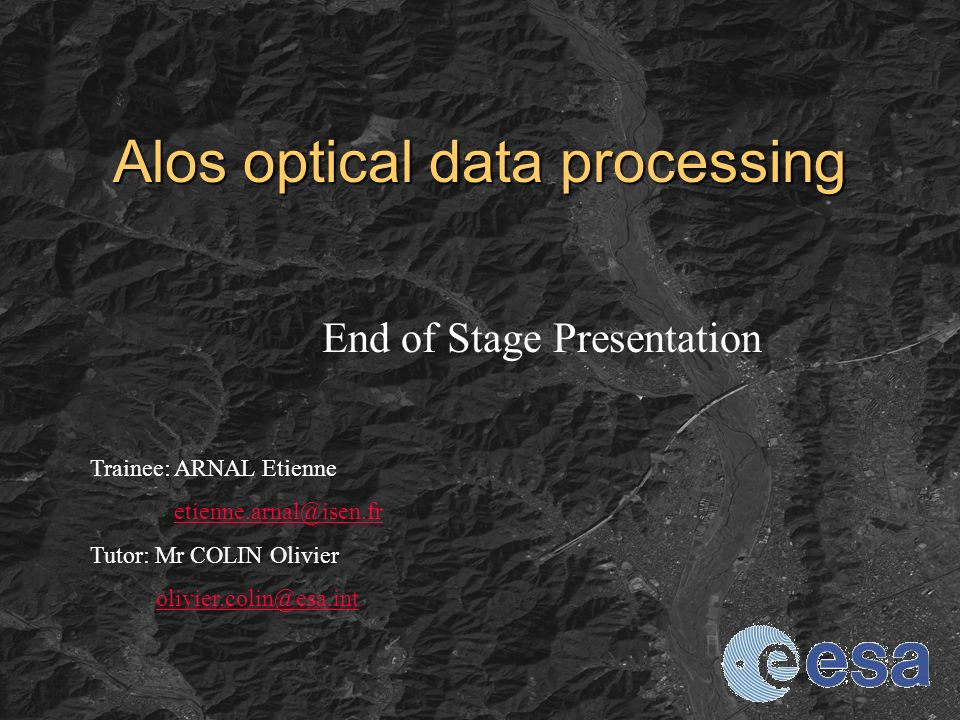 Alos optical data processing