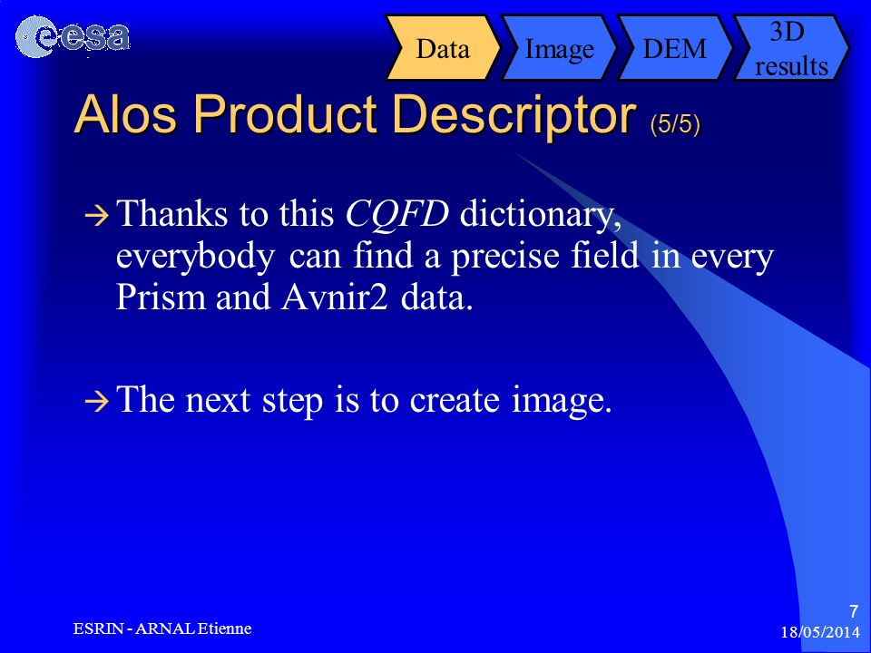 Alos Product Descriptor (5/5)