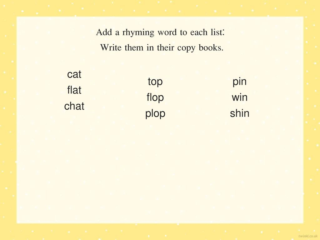 chat word list