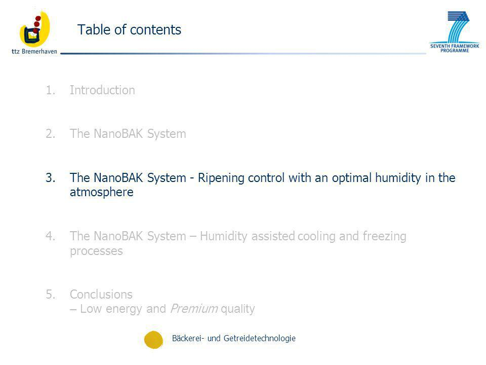 Table of contents Introduction The NanoBAK System