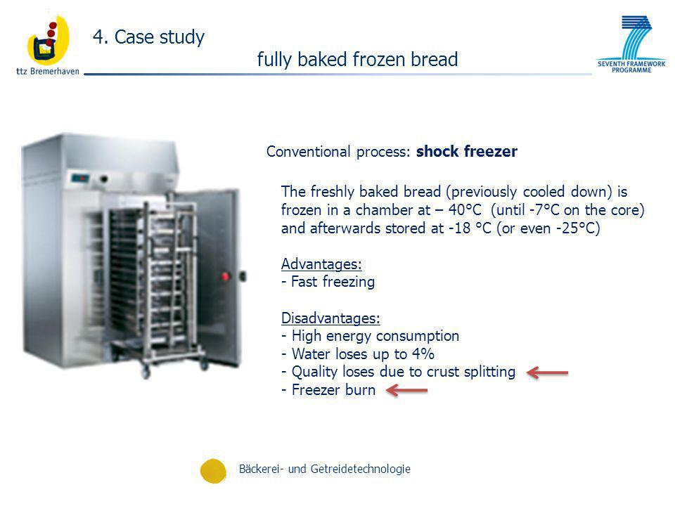 Conventional process: shock freezer