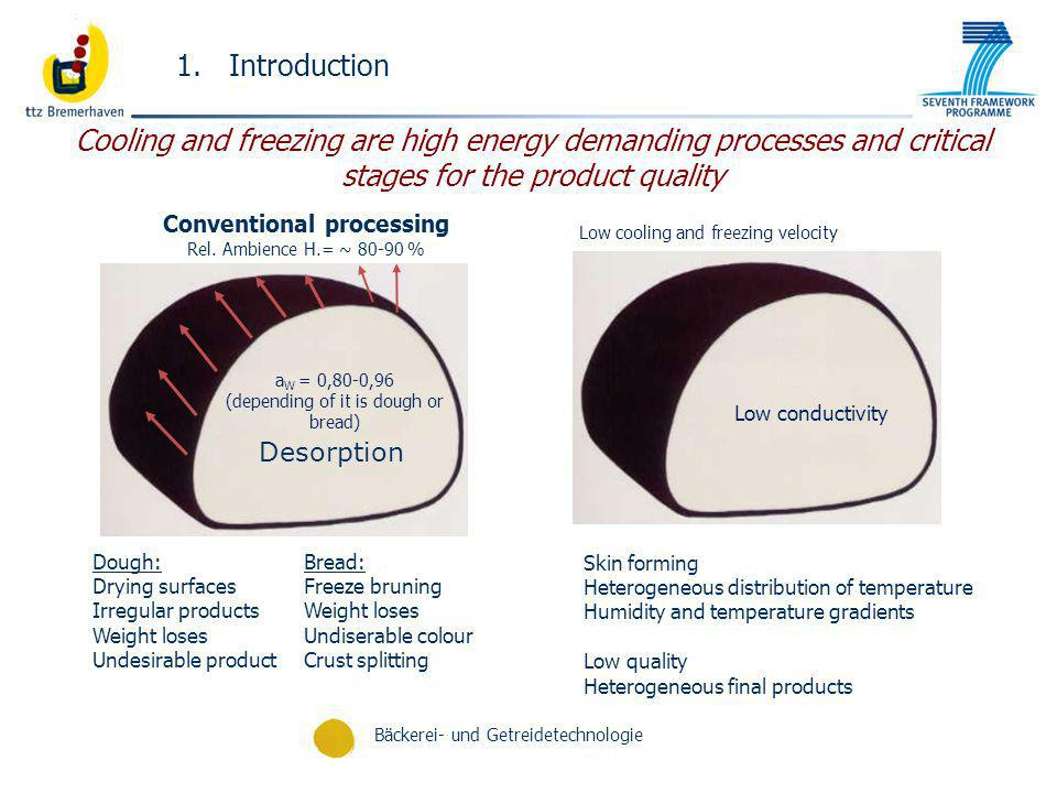 Introduction Cooling and freezing are high energy demanding processes and critical stages for the product quality.