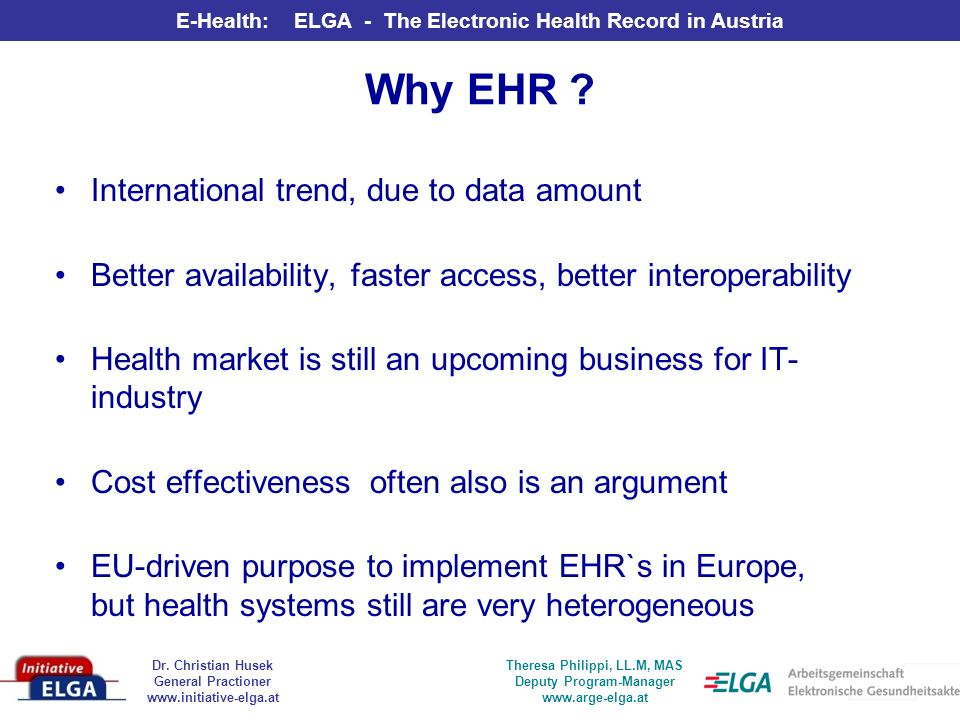 Why EHR International trend, due to data amount