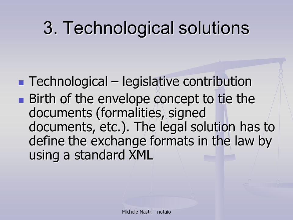 3. Technological solutions