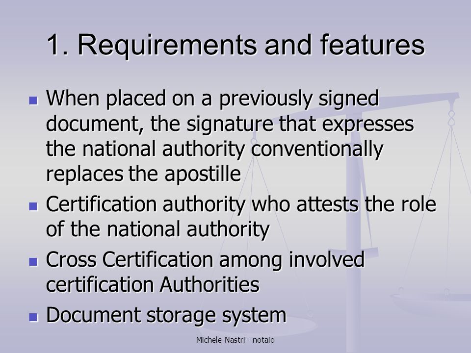 1. Requirements and features