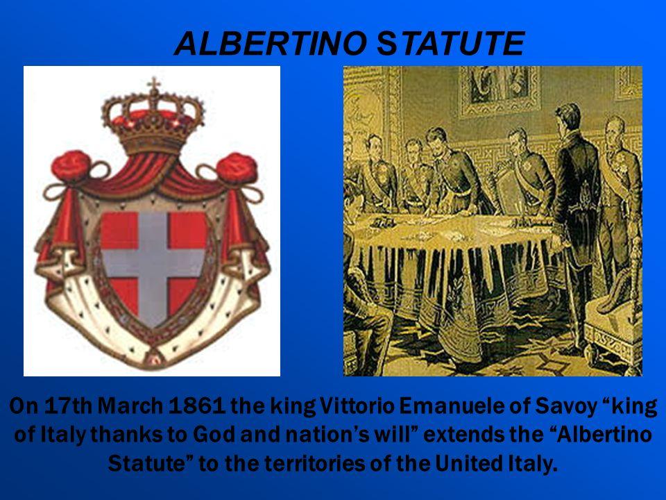 ALBERTINO STATUTE