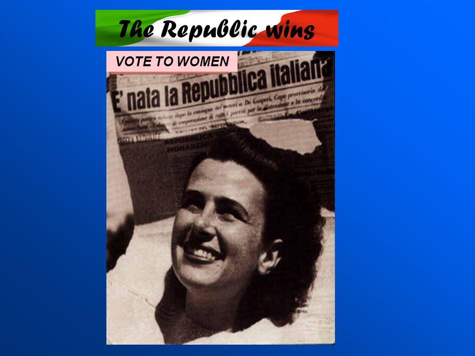 The Republic wins VOTE TO WOMEN