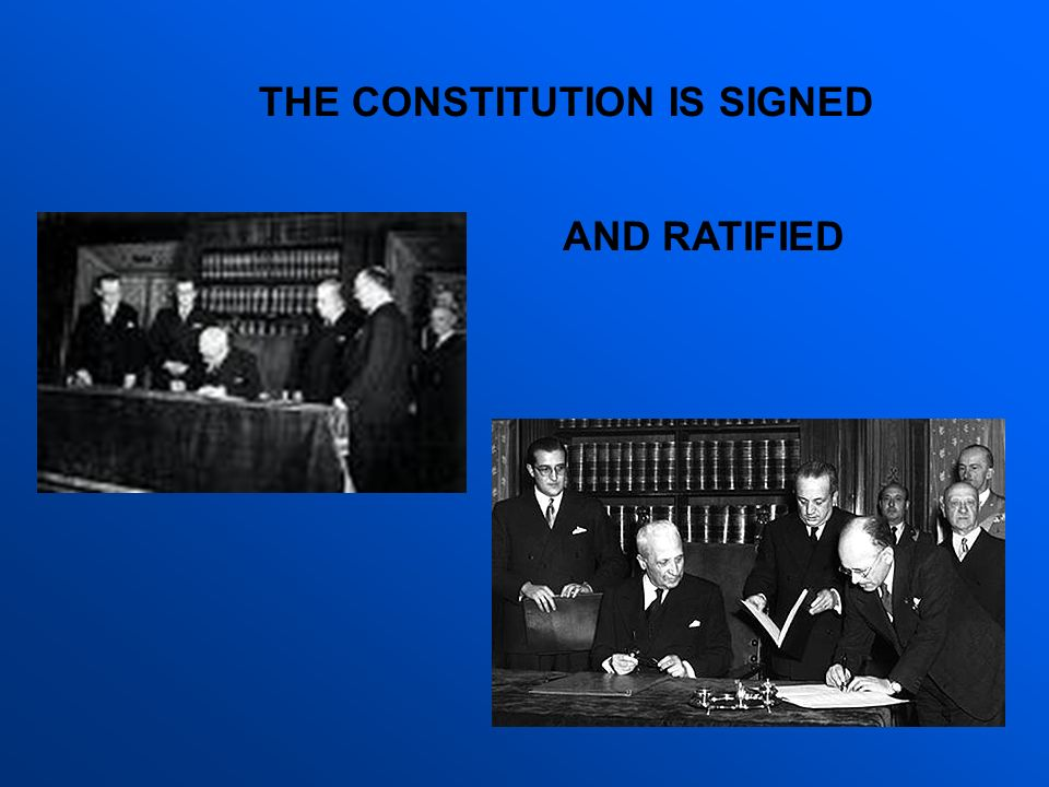 THE CONSTITUTION IS SIGNED