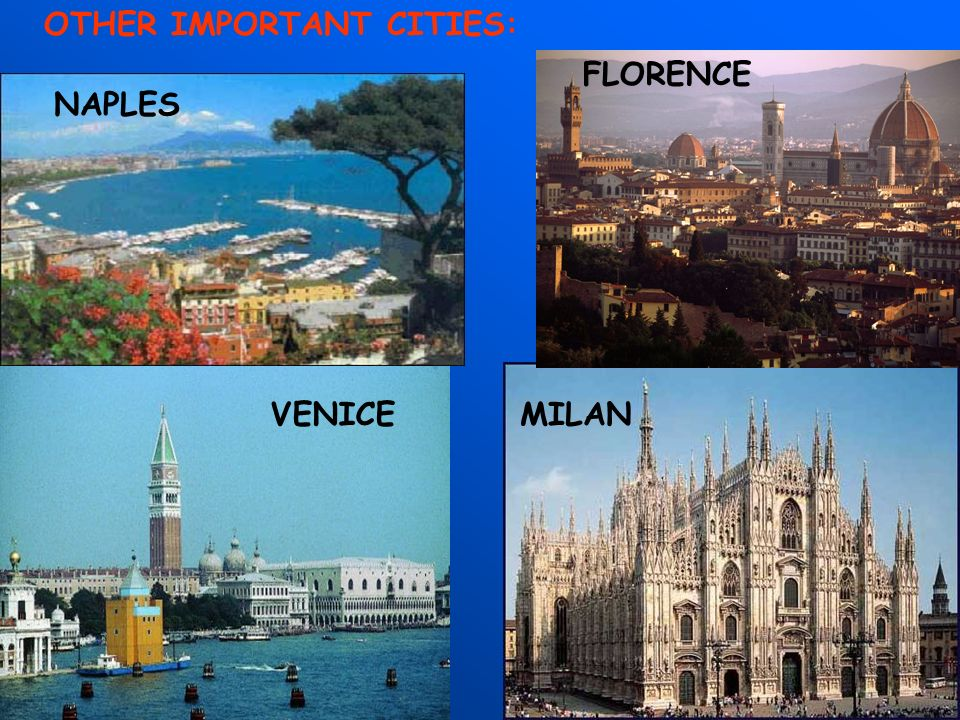 OTHER IMPORTANT CITIES:
