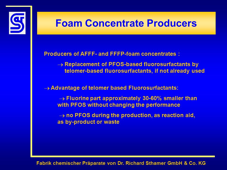 Foam Concentrate Producers
