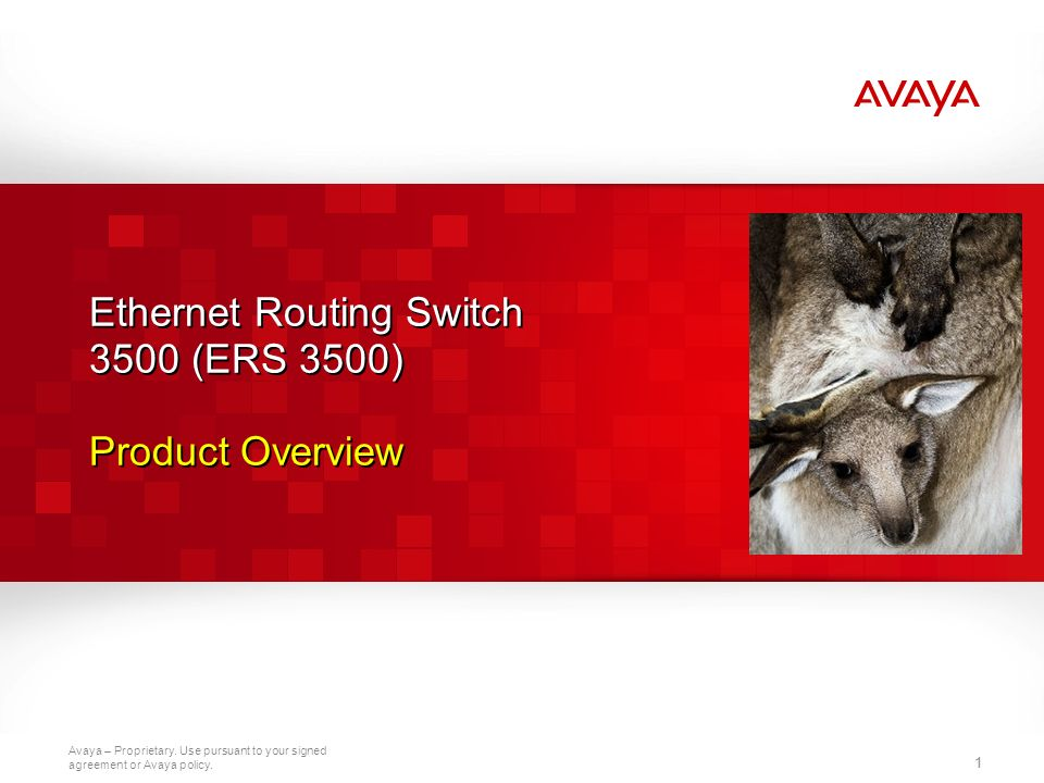 Ethernet Routing Switch 3500 (ERS 3500) Product Overview