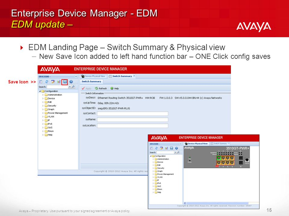 Enterprise Device Manager - EDM EDM update –
