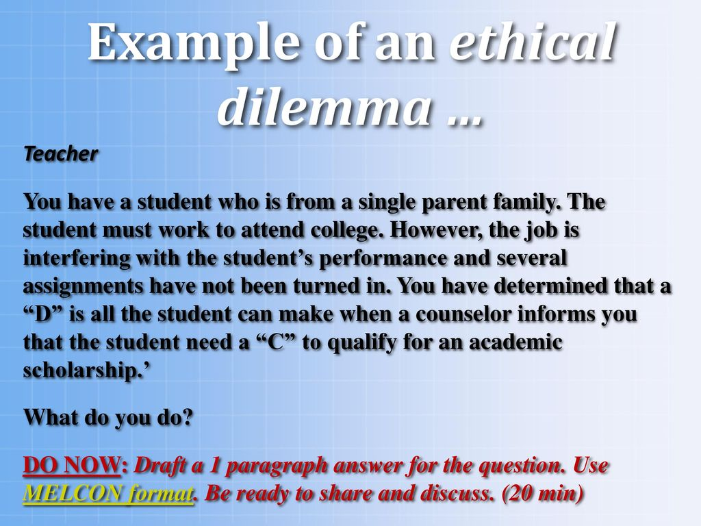 ethical dilemma examples for college students