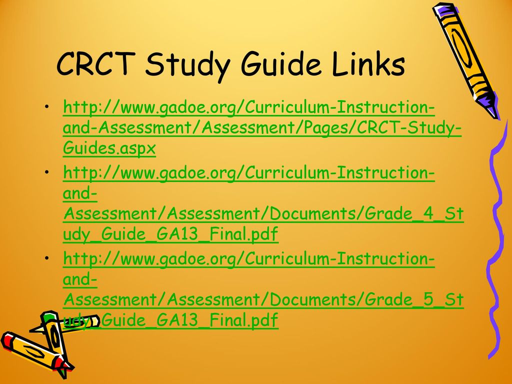 7 CRCT Study Guide Links