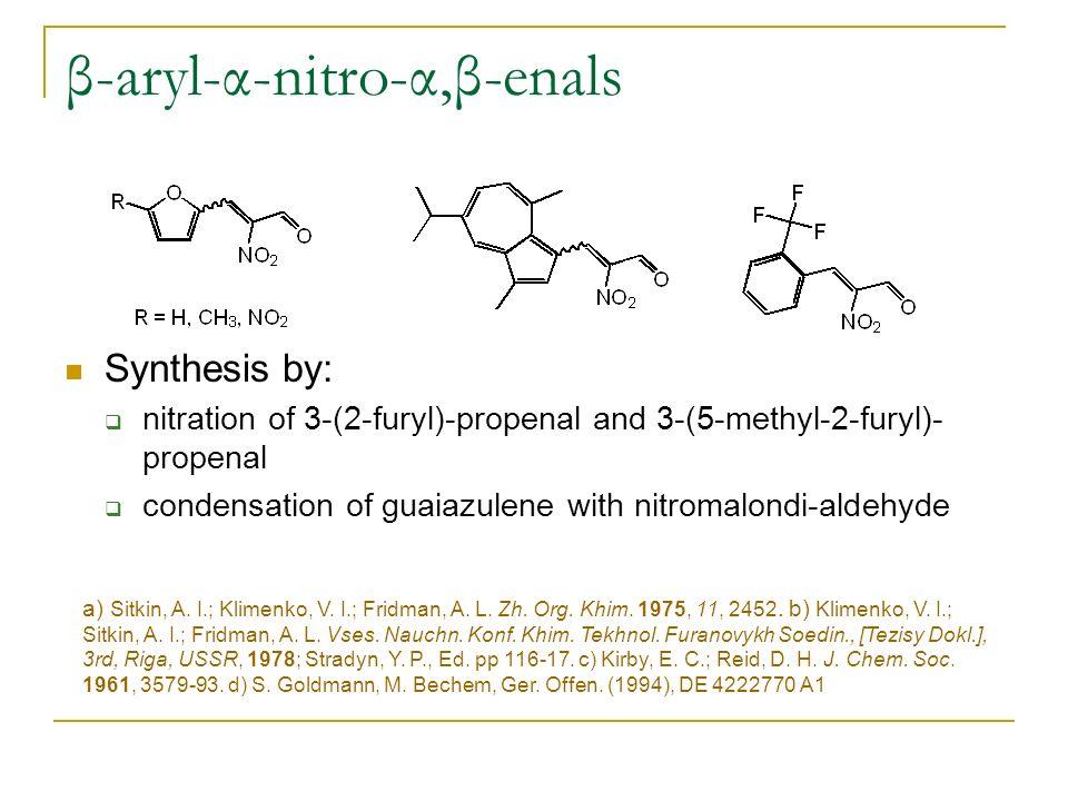 β-aryl-α-nitro-α,β-enals