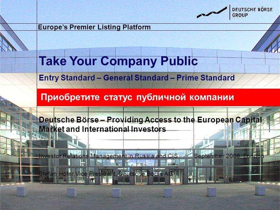 Take Your Company Public