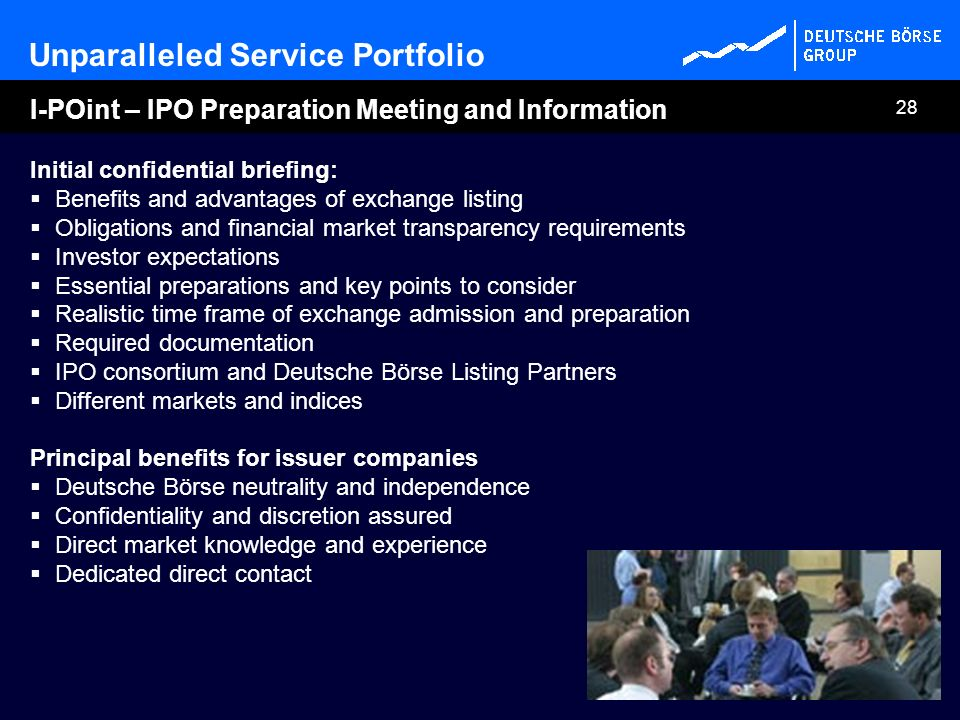 I-POint – IPO Preparation Meeting and Information