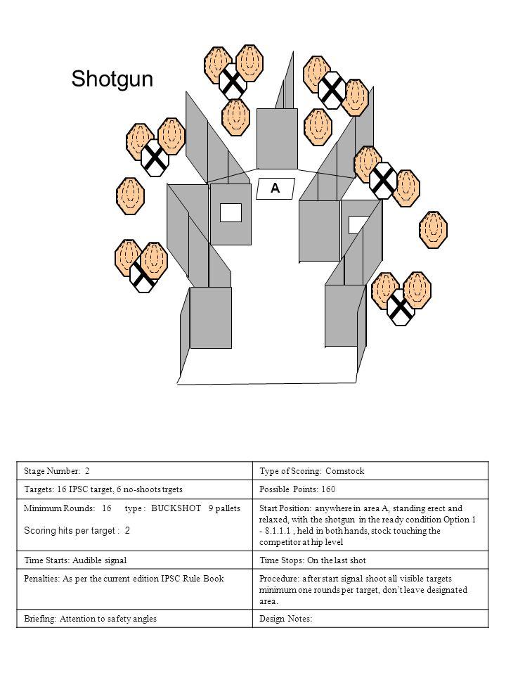 Shotgun A Stage Number: 2 Type of Scoring: Comstock