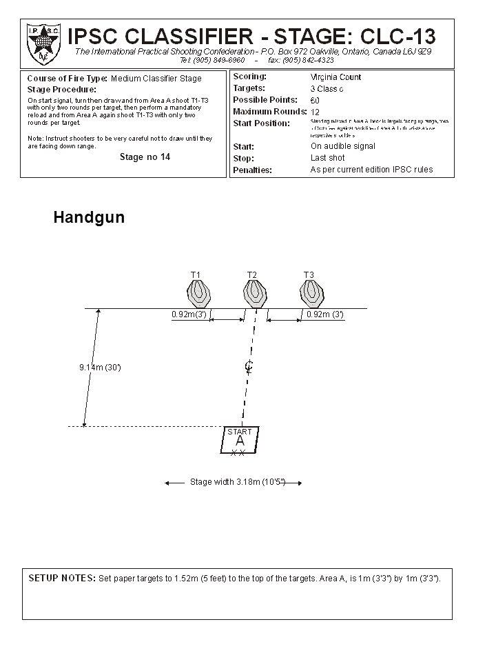 Stage no 14 Handgun