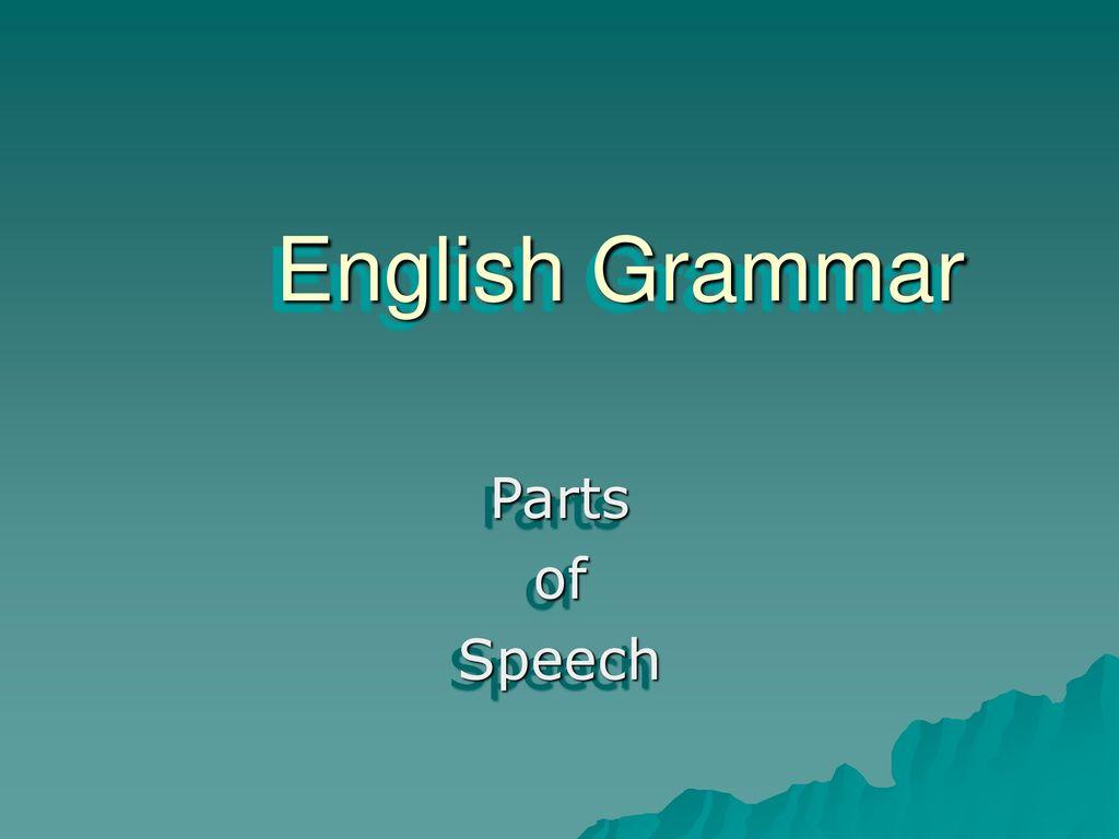 speech in english grammar