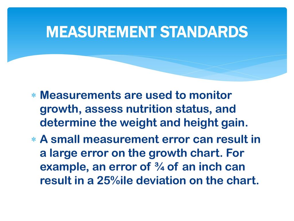 MEASUREMENT STANDARDS