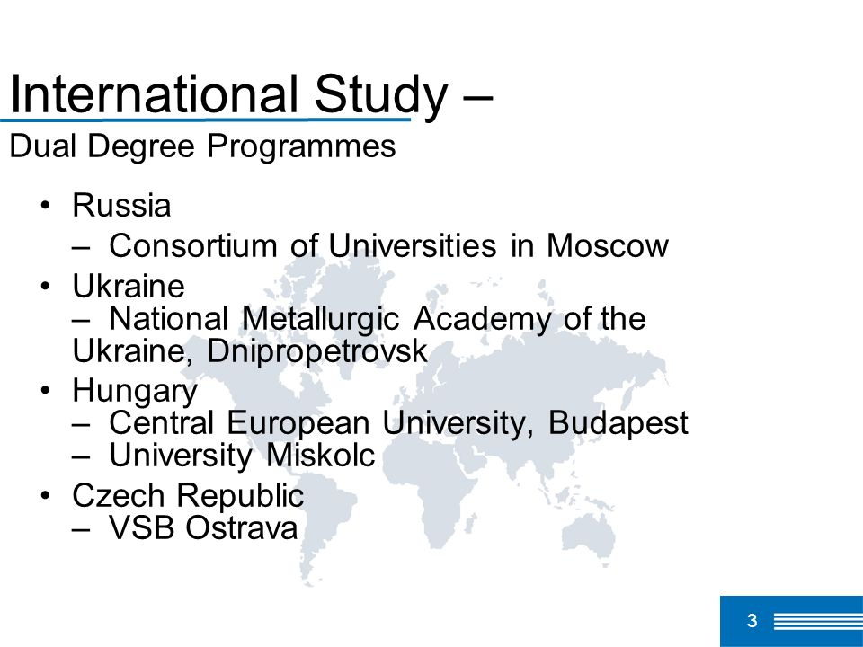 International Study – Dual Degree Programmes