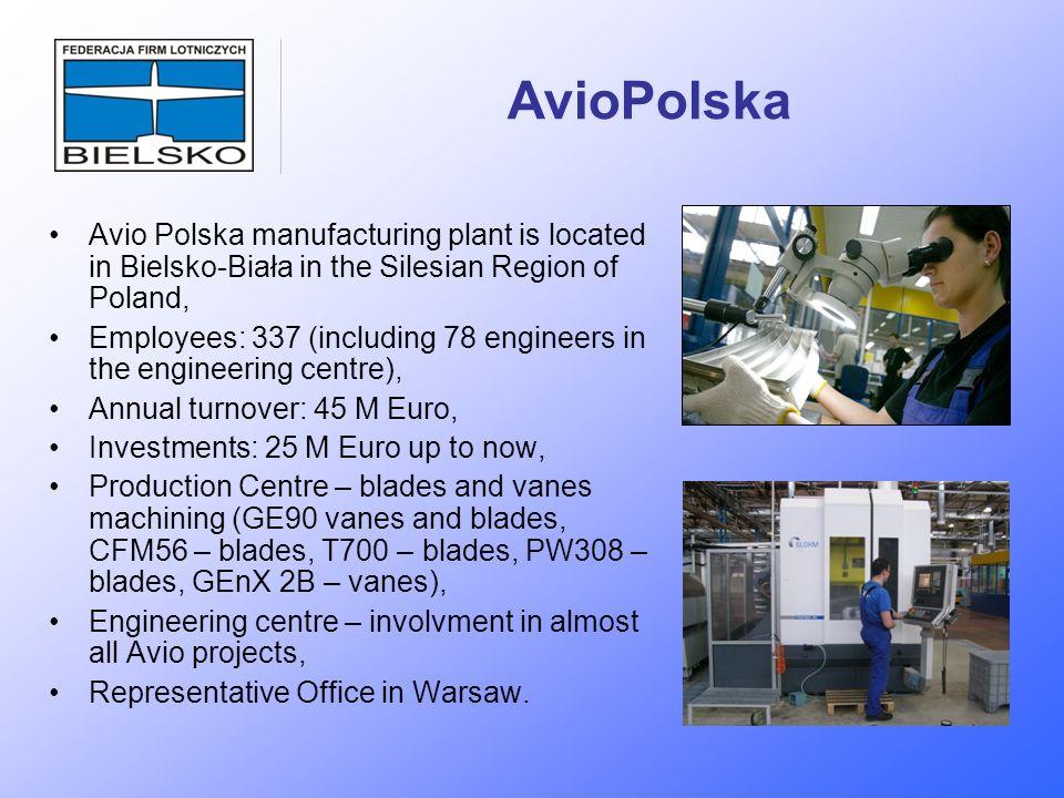 AvioPolska Avio Polska manufacturing plant is located in Bielsko-Biała in the Silesian Region of Poland,