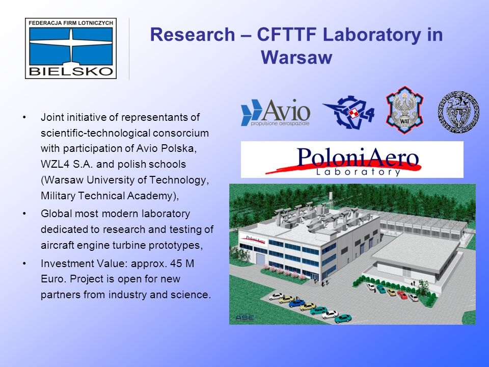 Research – CFTTF Laboratory in Warsaw