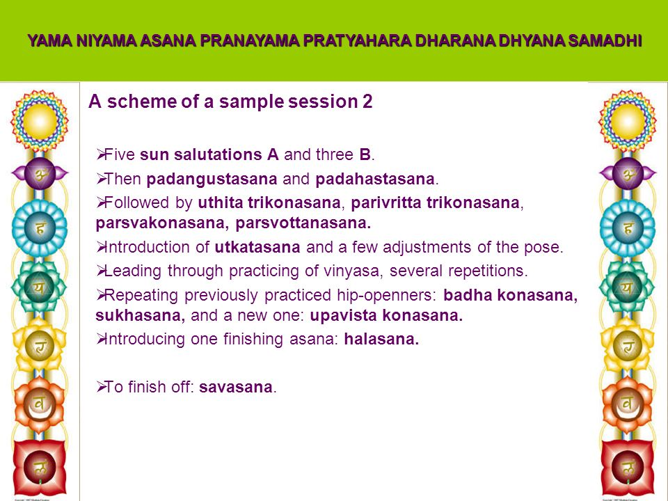A scheme of a sample session 2