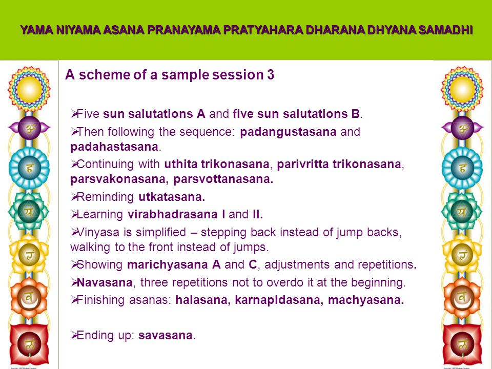 A scheme of a sample session 3