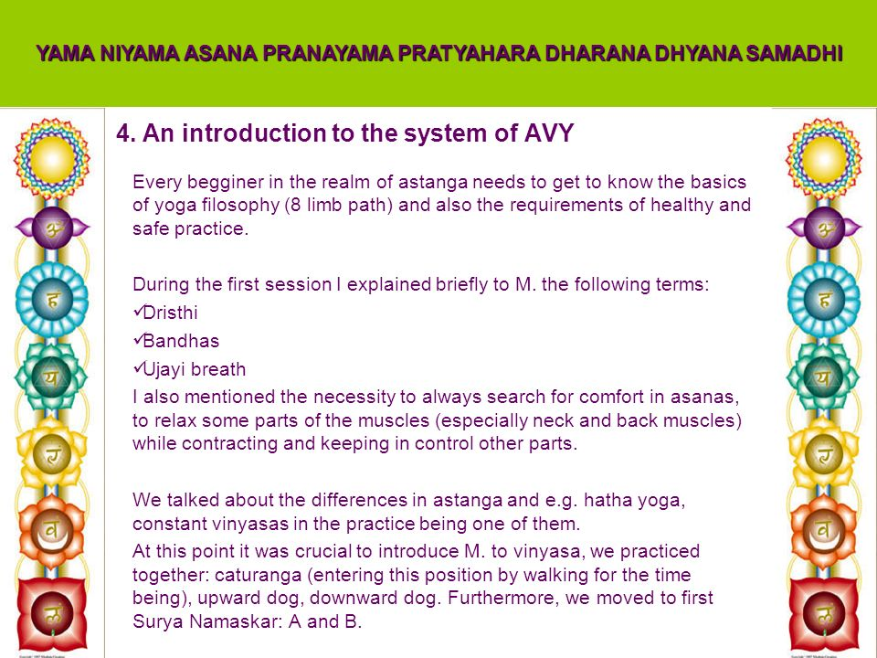 4. An introduction to the system of AVY