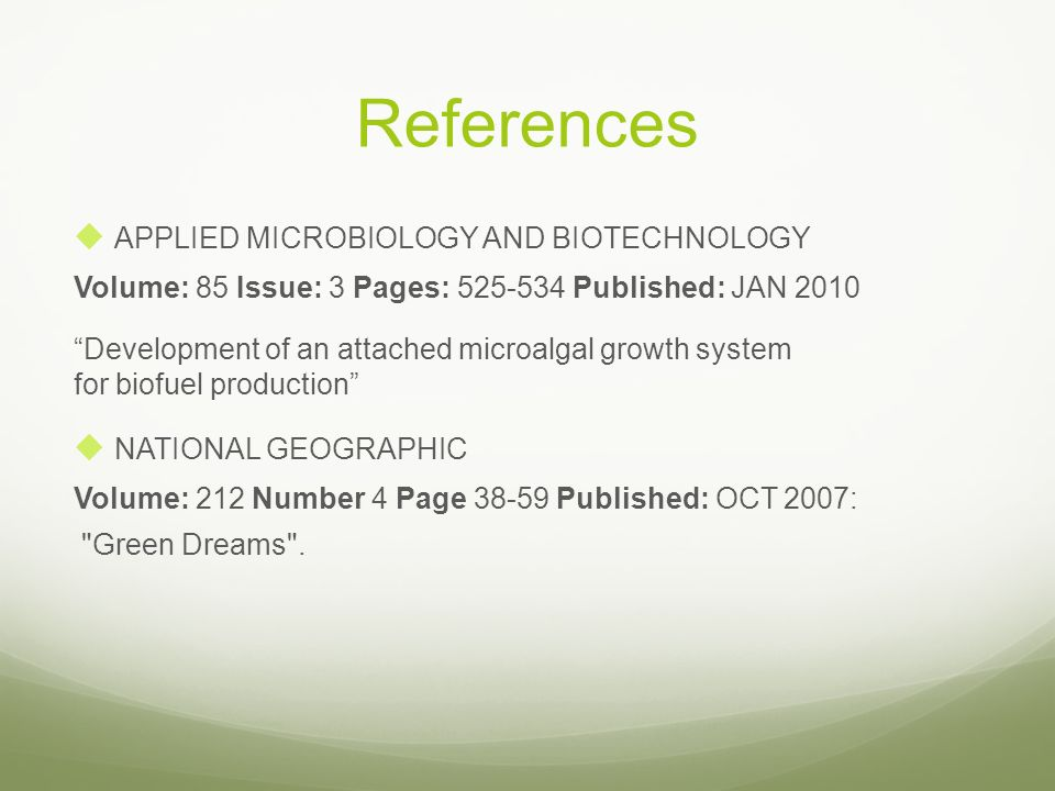 References APPLIED MICROBIOLOGY AND BIOTECHNOLOGY